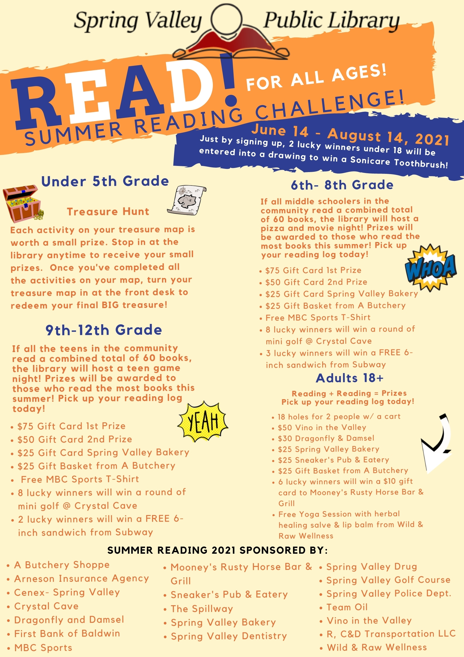 Spring Valley Summer Reading Description 2021